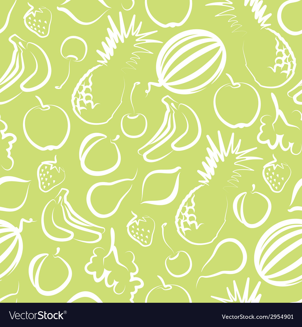 Seamless background with fruit vector | Price: 1 Credit (USD $1)