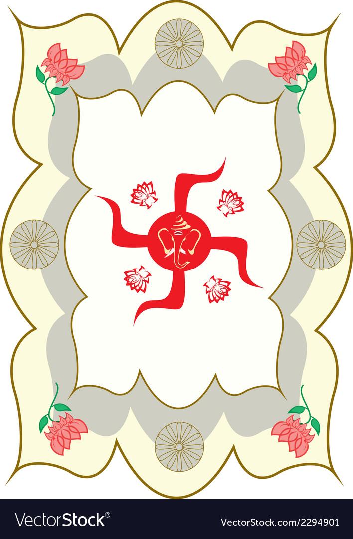 Swastika ganesha vector | Price: 1 Credit (USD $1)