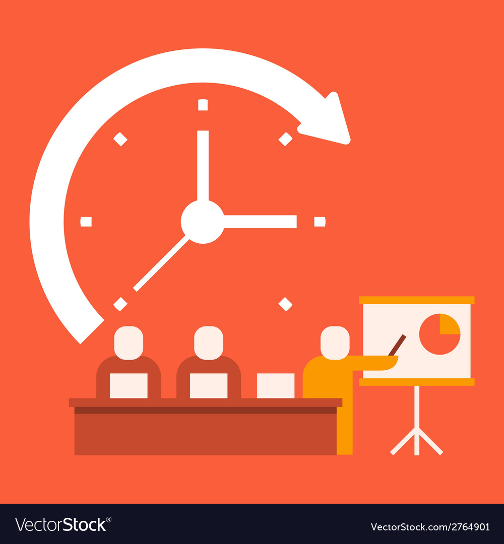 Time business presentations vector | Price: 1 Credit (USD $1)