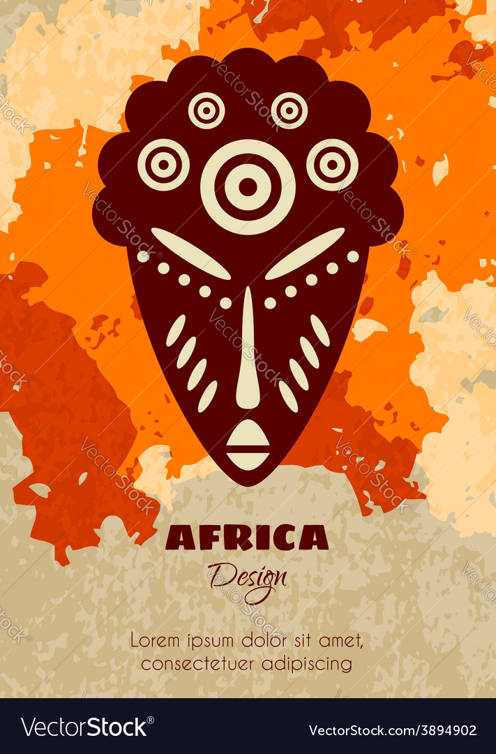 African tribal mask vector | Price: 1 Credit (USD $1)