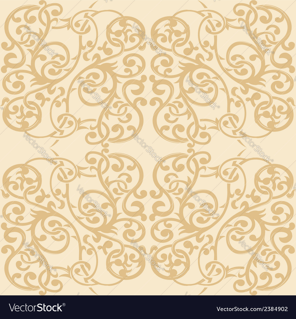 Floral ornament seamless pattern 2 vector | Price: 1 Credit (USD $1)