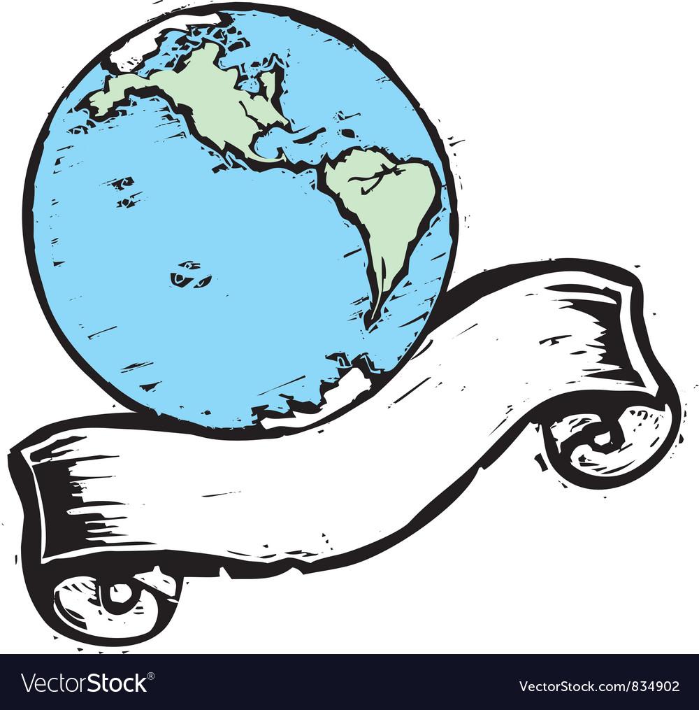 Globe banner 1 vector | Price: 1 Credit (USD $1)