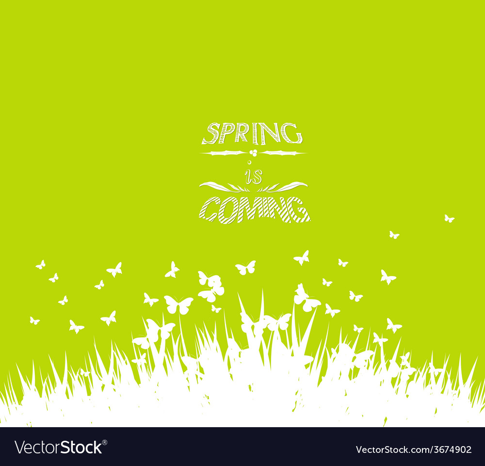 Green spring with coming soon floral vector | Price: 1 Credit (USD $1)