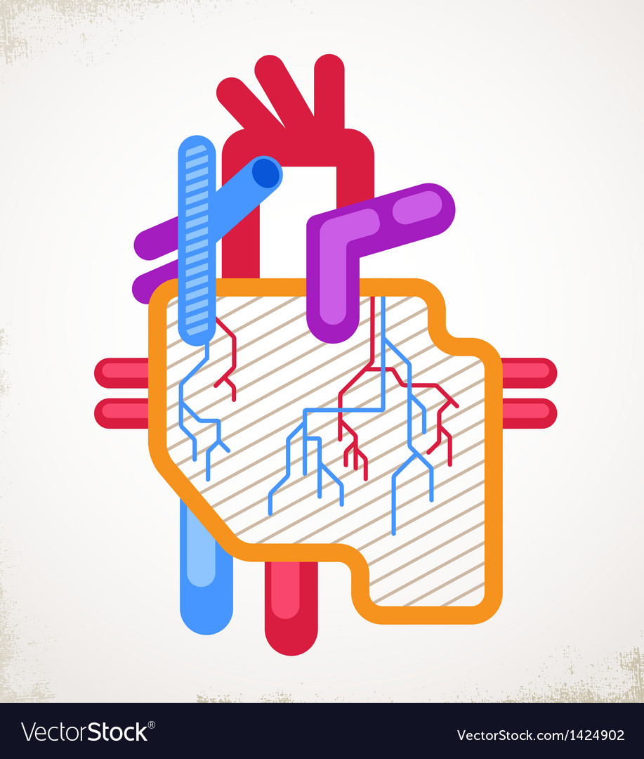 Human heart health disease and attack icon vector | Price: 1 Credit (USD $1)