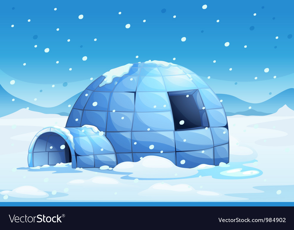 Igloo background vector | Price: 1 Credit (USD $1)