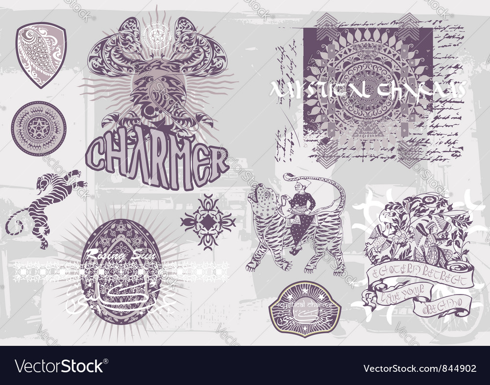 Mystical charm all vector | Price: 1 Credit (USD $1)