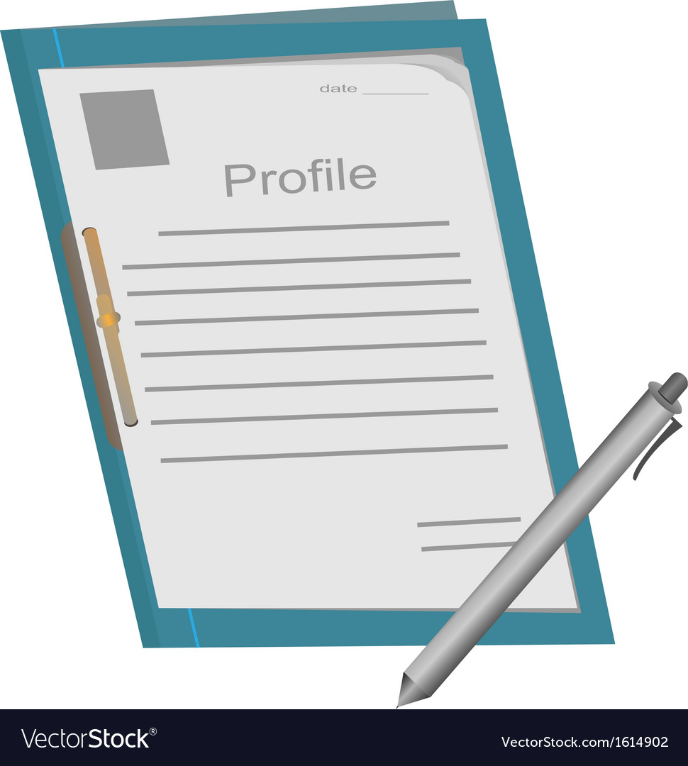 Profile folder1 vector | Price: 1 Credit (USD $1)