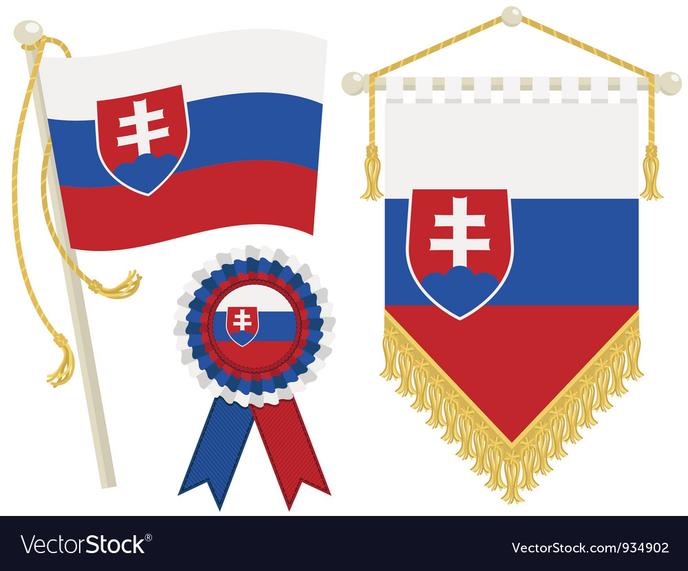 Slovakia flags vector | Price: 1 Credit (USD $1)