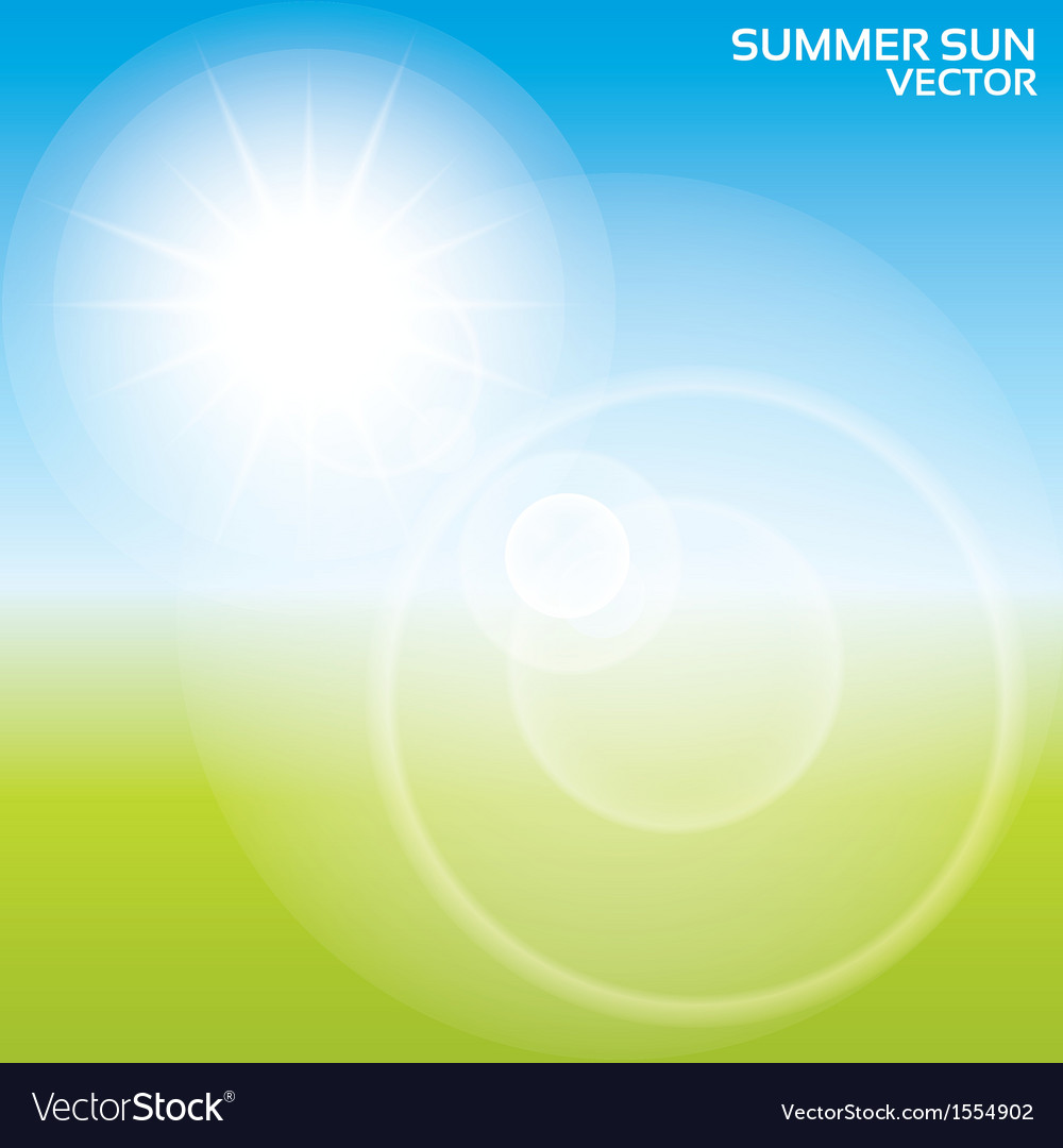 Summer sun lens flare background vector | Price: 1 Credit (USD $1)