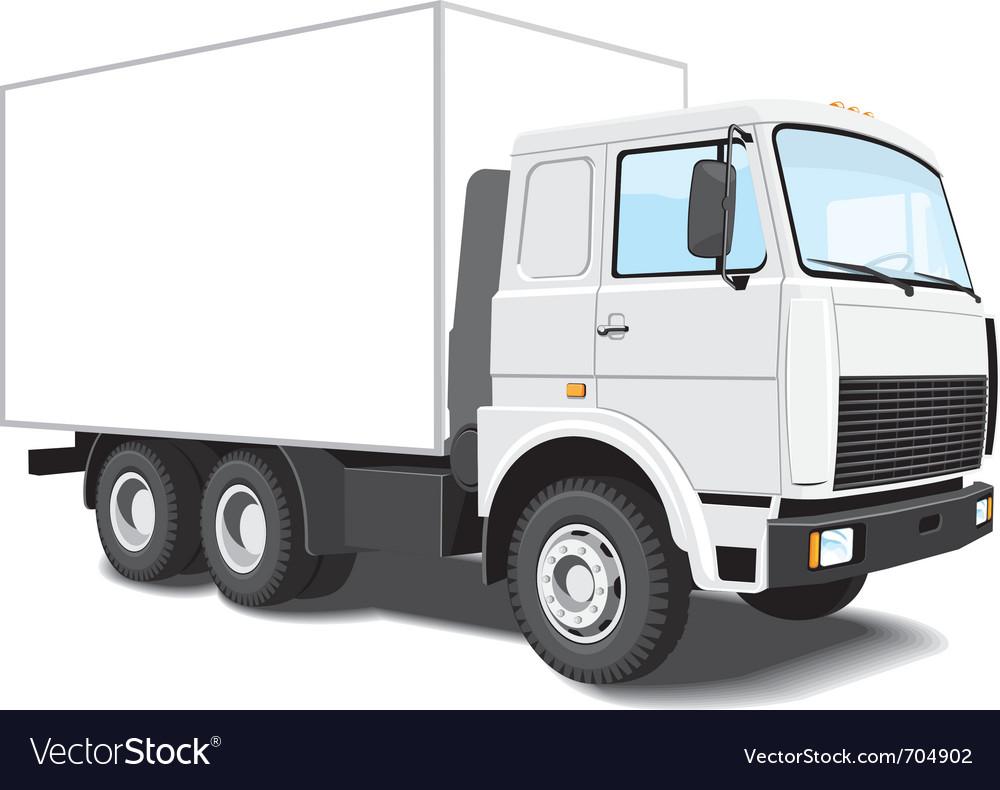 White truck vector | Price: 3 Credit (USD $3)