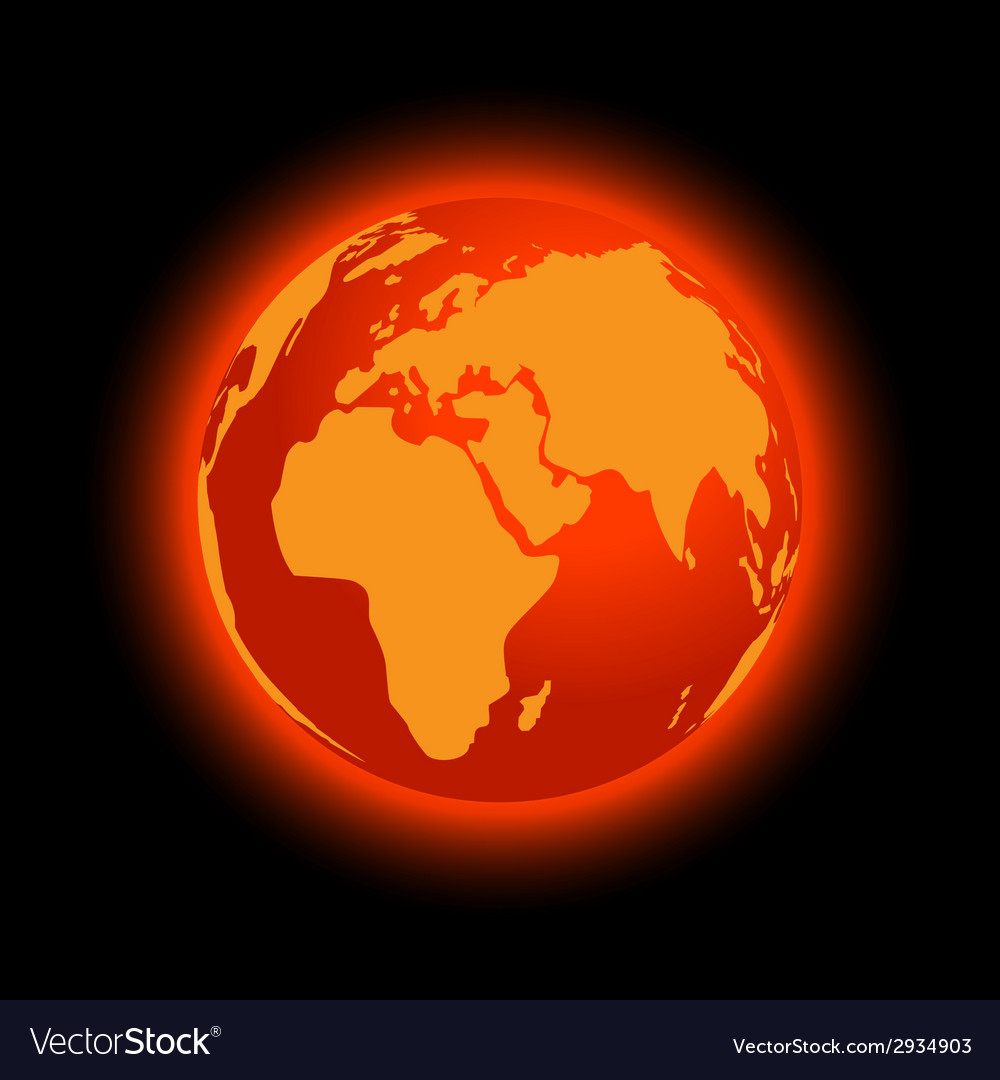 Abstract global warming vector | Price: 1 Credit (USD $1)
