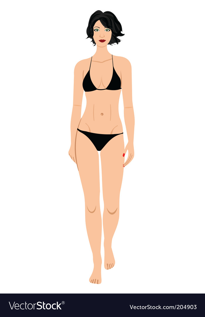 Bathing suit beauty vector | Price: 1 Credit (USD $1)