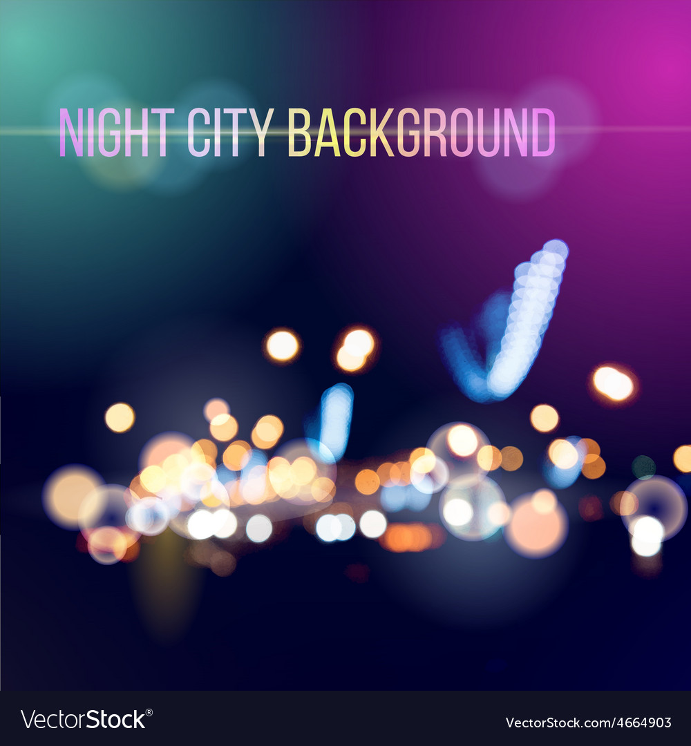 Blurred defocused lights of city traffic vector | Price: 1 Credit (USD $1)