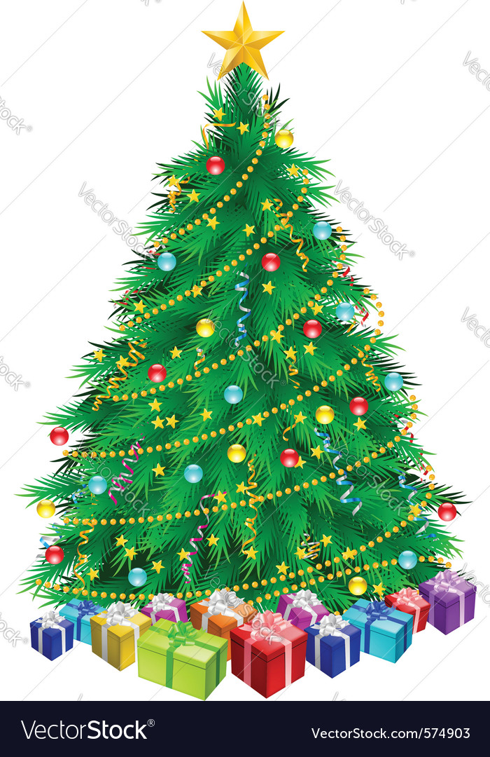 Christmas tree and gifts vector   Price: 1 Credit (USD $1)