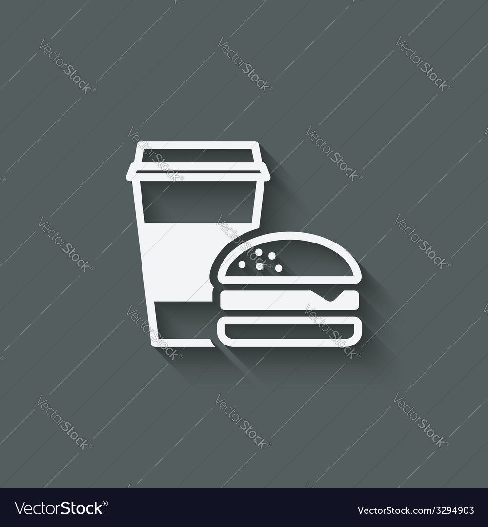 Coffee and burger fast food vector | Price: 1 Credit (USD $1)