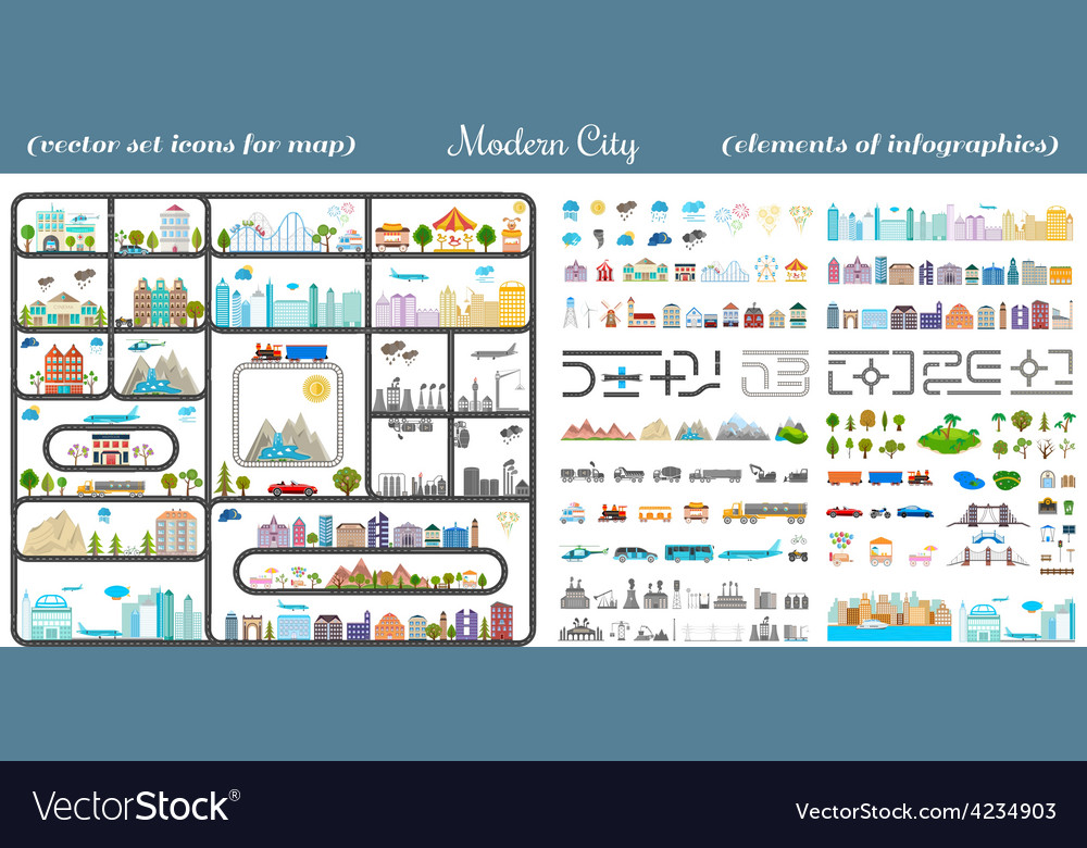 Elements of the modern city - stock vector | Price: 3 Credit (USD $3)