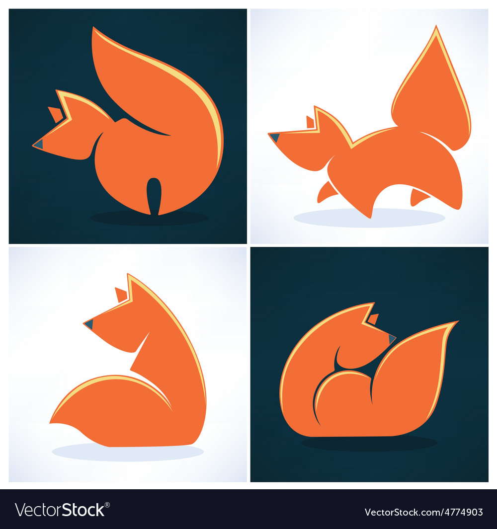 Fox collection vector | Price: 1 Credit (USD $1)
