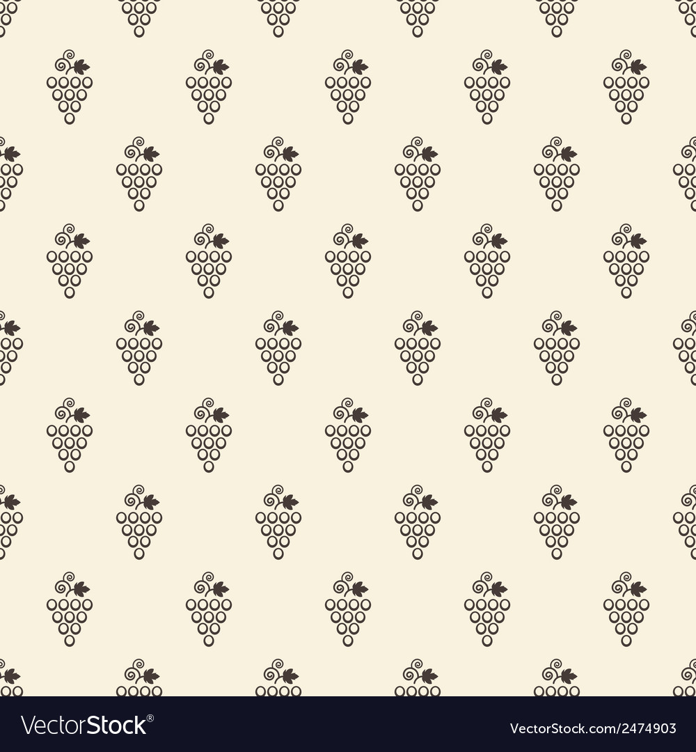 Grapes seamless pattern vector | Price: 1 Credit (USD $1)