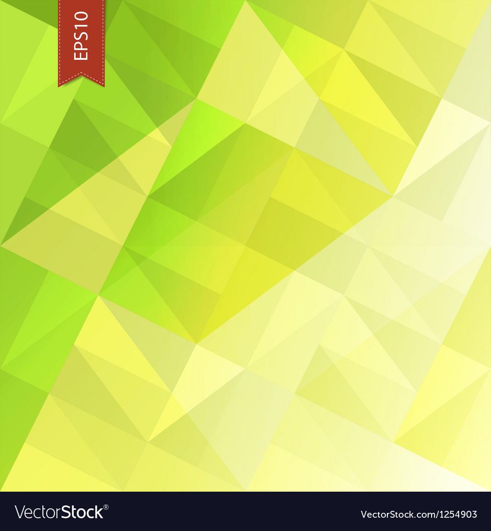 Green triangles abstract background eps10 vector | Price: 1 Credit (USD $1)