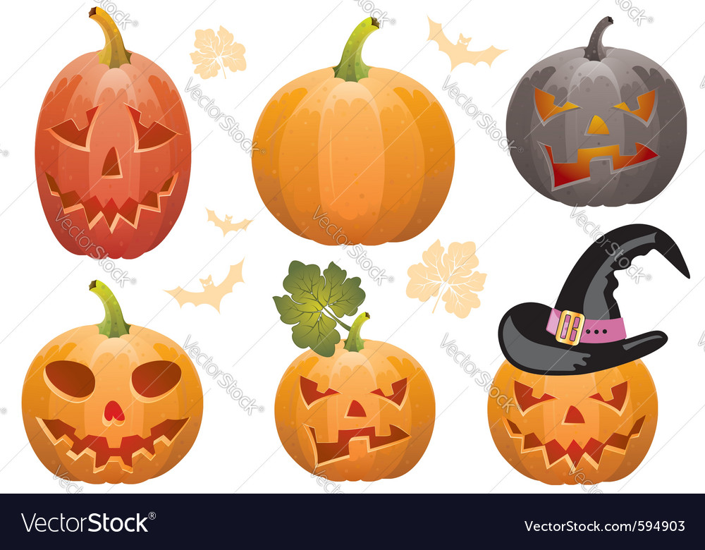 Jack o lanterns vector | Price: 1 Credit (USD $1)