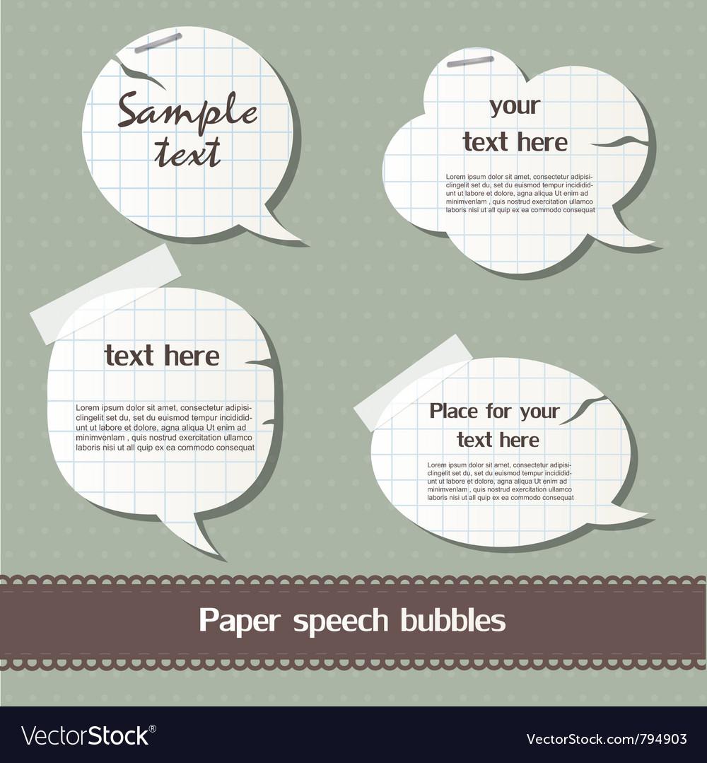 Paper speech bubbles vector | Price: 1 Credit (USD $1)