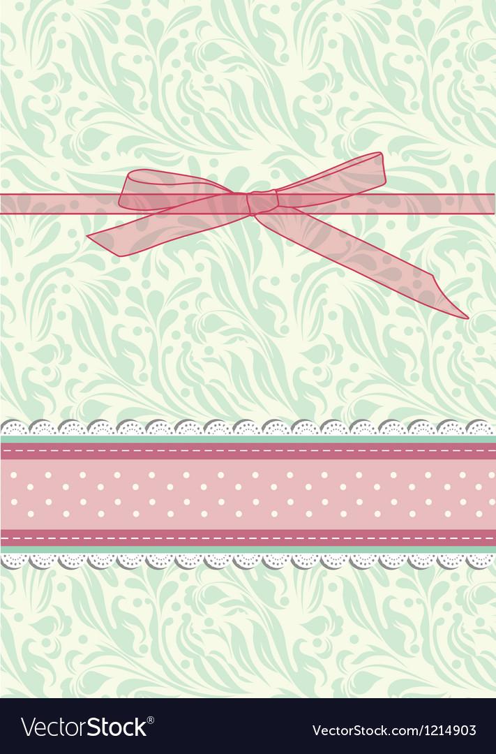 Retro floral greeting card vector | Price: 1 Credit (USD $1)