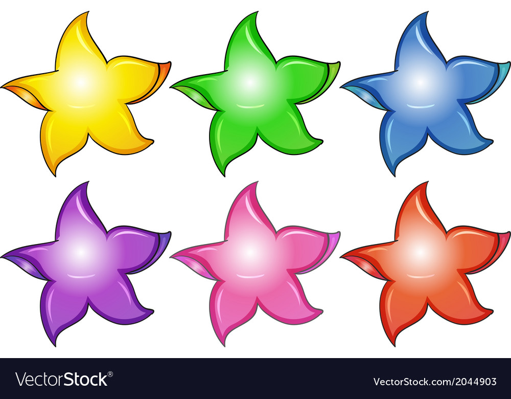 Three colorful stars vector | Price: 1 Credit (USD $1)