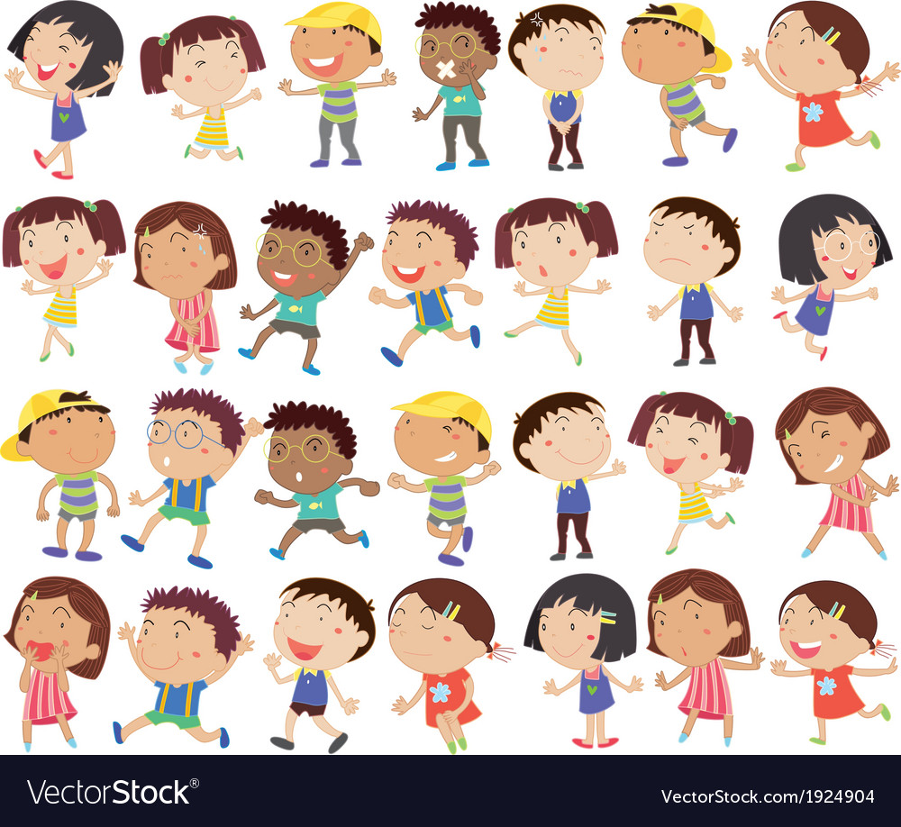 A group of happy kids vector | Price: 3 Credit (USD $3)