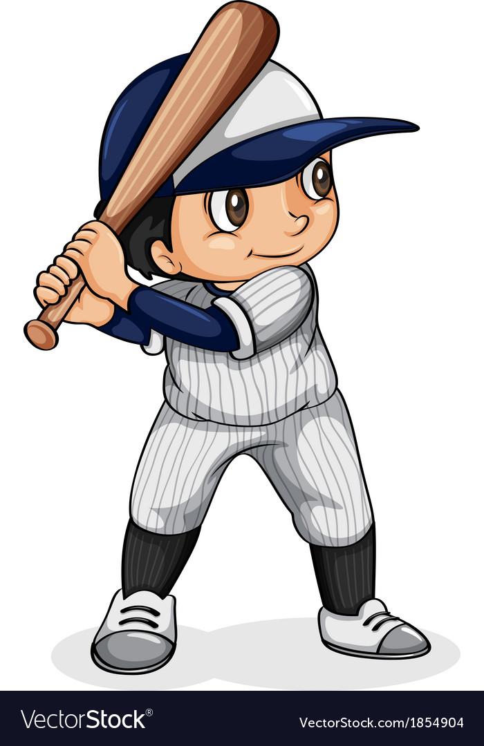 An asian baseball player vector | Price: 1 Credit (USD $1)