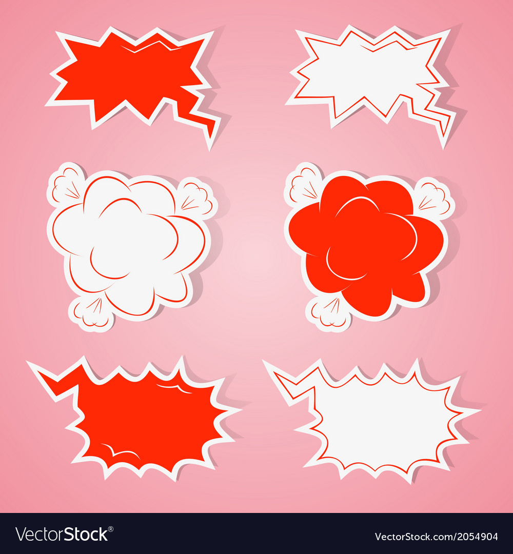 Angry speech bubbles vector | Price: 1 Credit (USD $1)