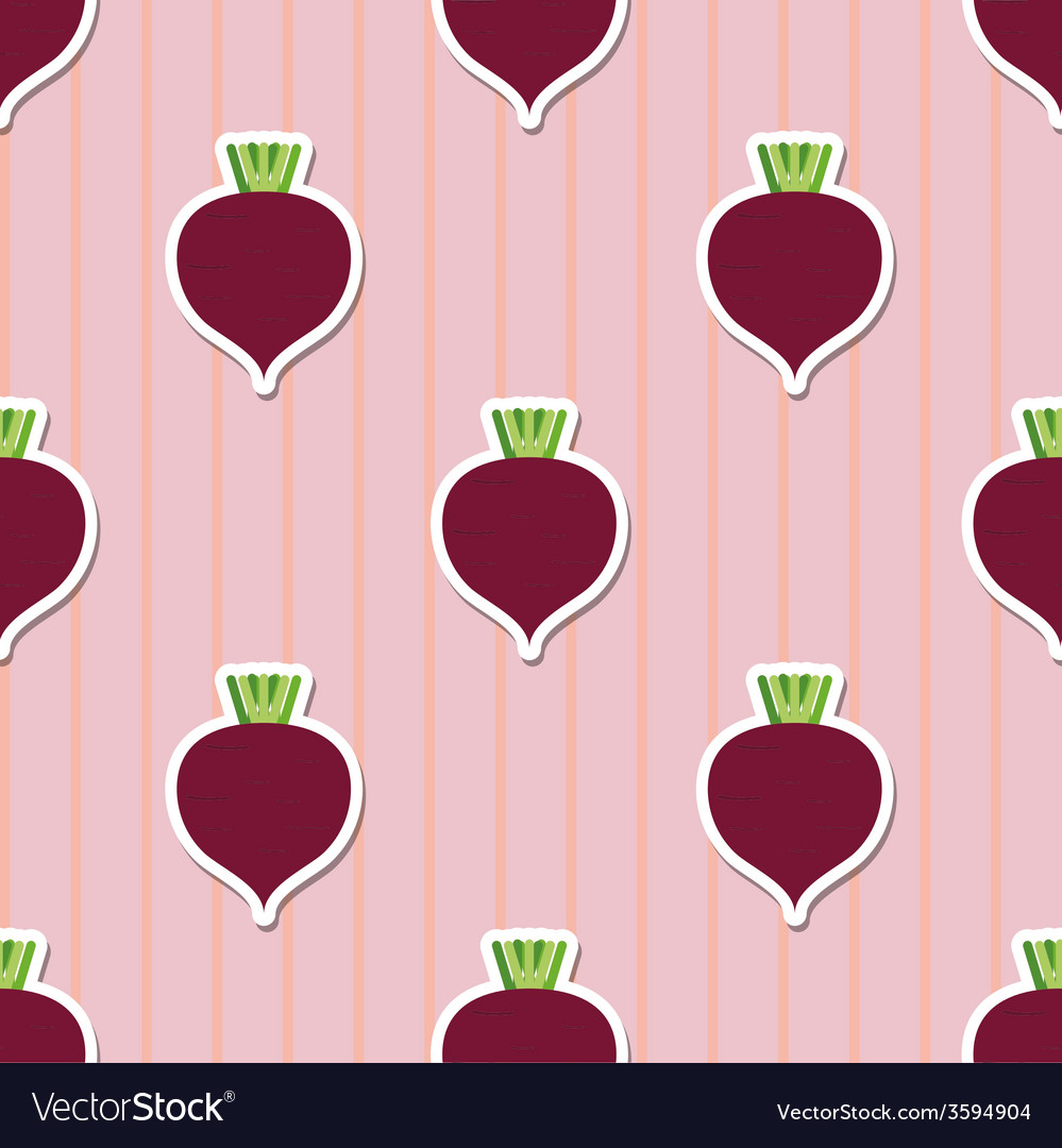 Beet pattern seamless texture with beetroot vector   Price: 1 Credit (USD $1)