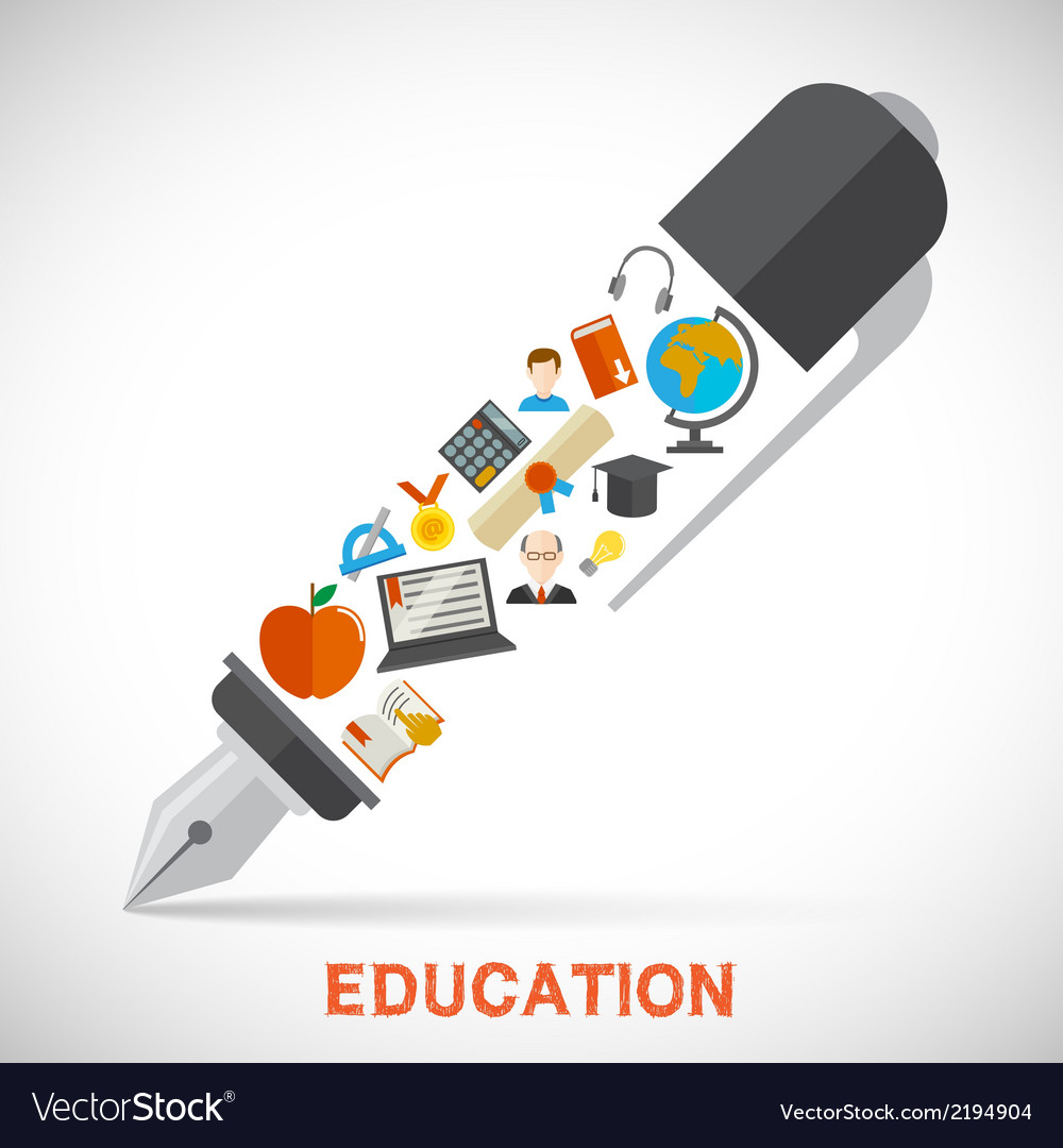 Education pen concept vector | Price: 1 Credit (USD $1)