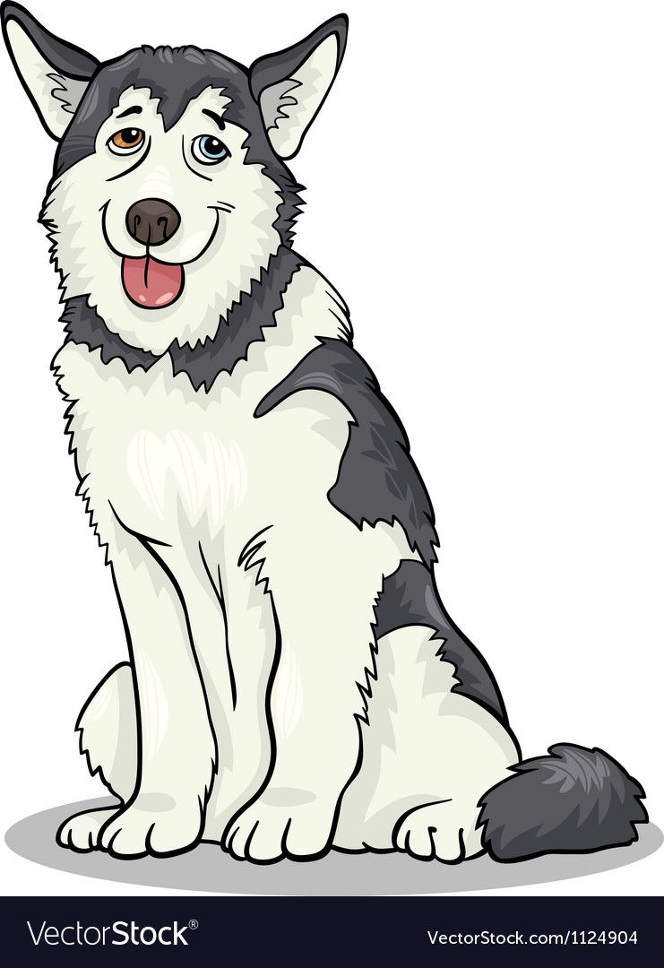 Husky or malamute dog cartoon vector | Price: 1 Credit (USD $1)