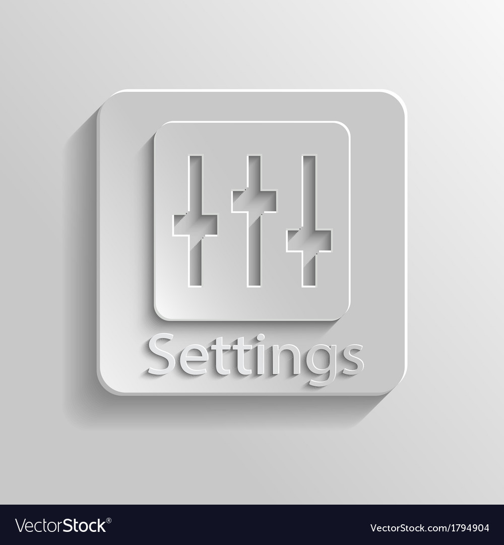 Icon setting vector | Price: 1 Credit (USD $1)