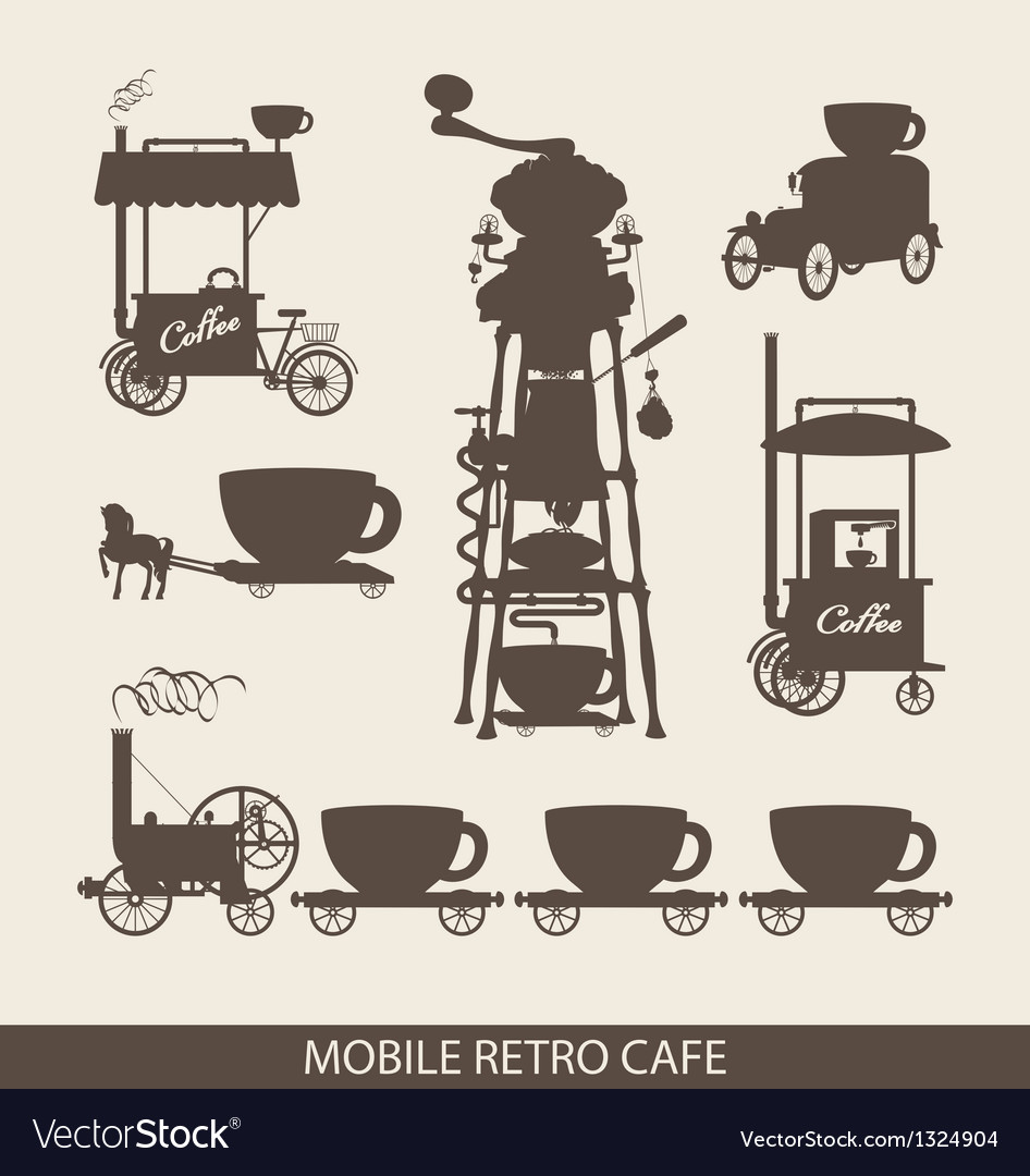 Mobile cafe vector | Price: 1 Credit (USD $1)