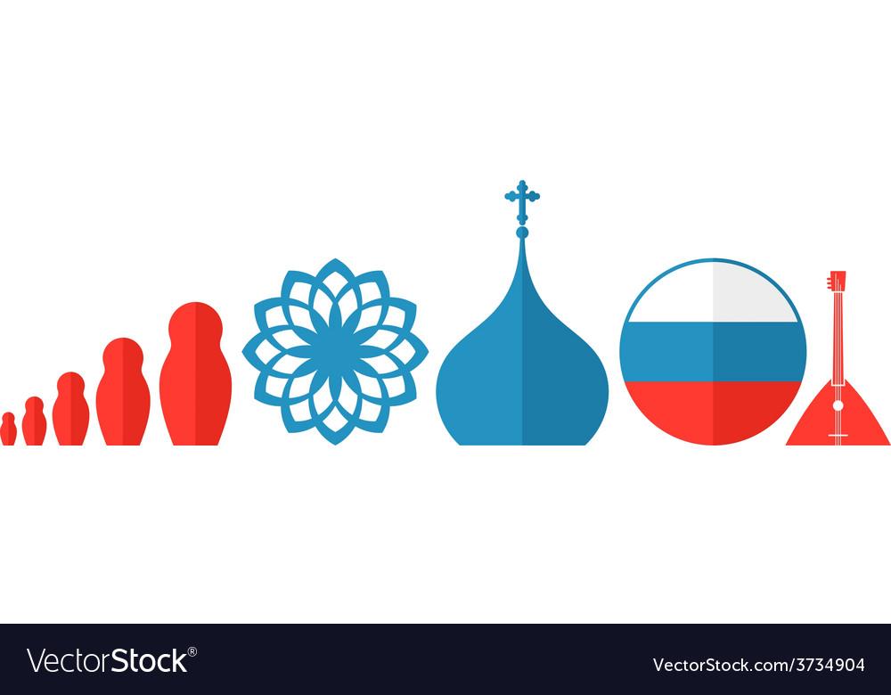 Russia icon set vector | Price: 1 Credit (USD $1)