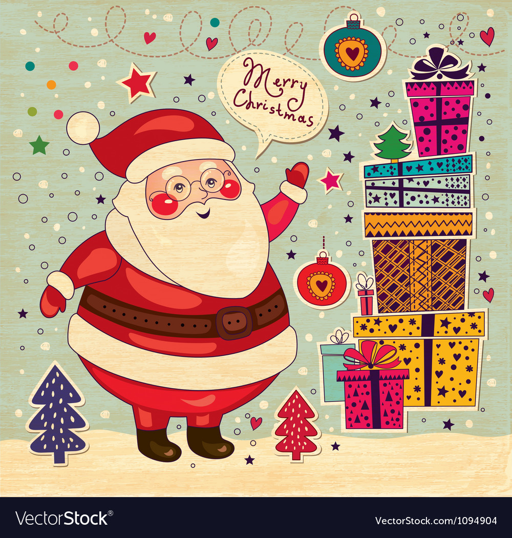 Scrapbook arty santa claus vector | Price: 1 Credit (USD $1)