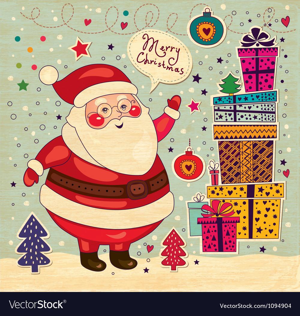 Scrapbook arty santa claus vector   Price: 1 Credit (USD $1)