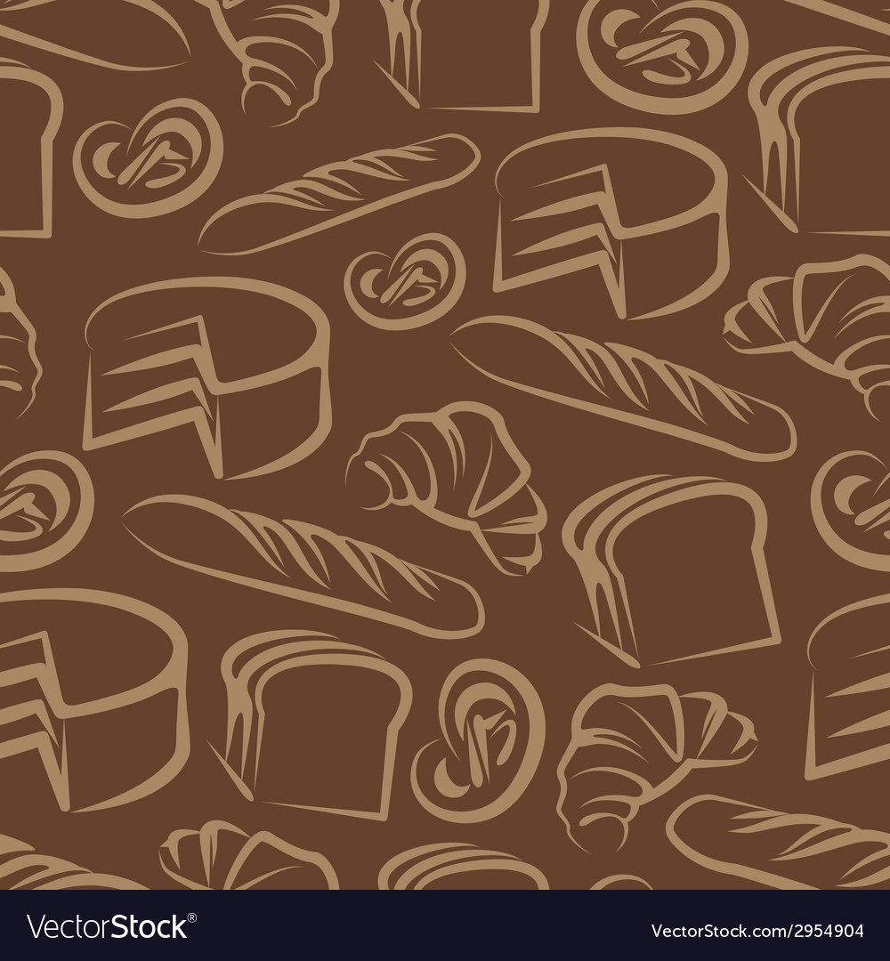 Seamless background with baking items vector | Price: 1 Credit (USD $1)