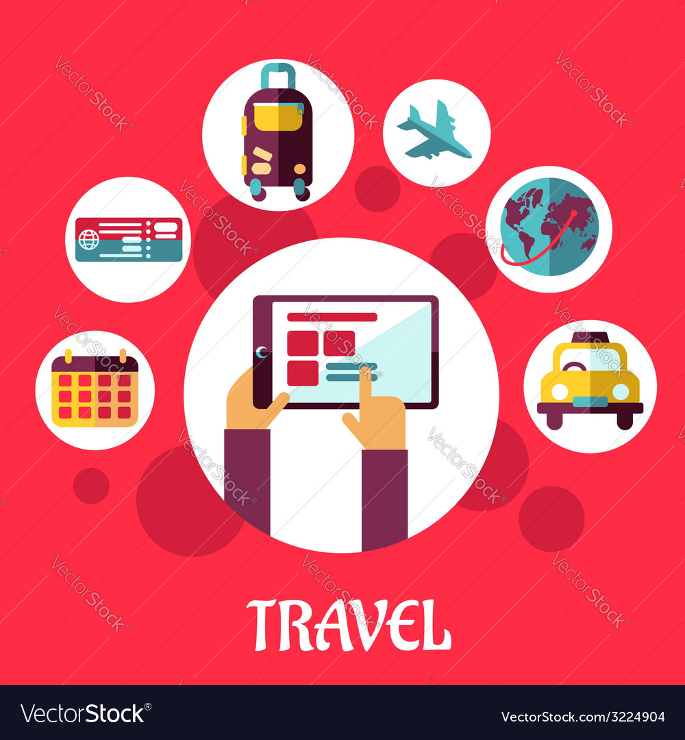 Travel flat concept vector | Price: 1 Credit (USD $1)