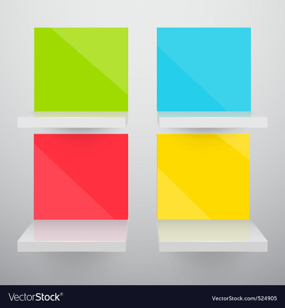 3d isolated empty colorful vector | Price: 3 Credit (USD $3)
