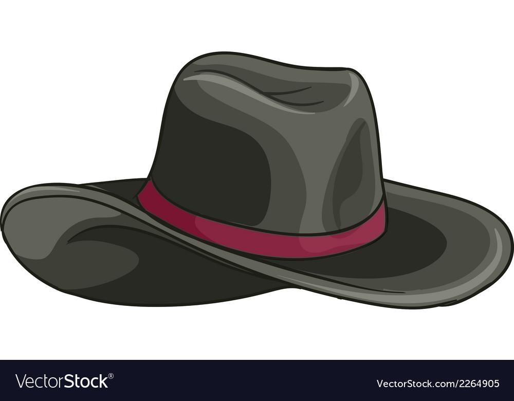 A grey hat vector | Price: 1 Credit (USD $1)