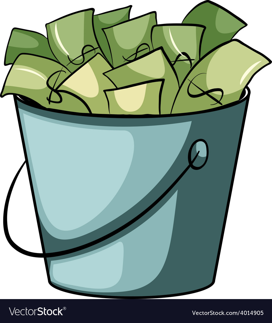 A pail of money vector | Price: 3 Credit (USD $3)