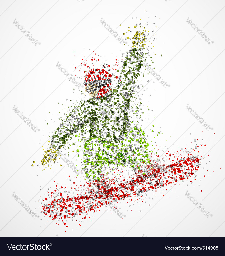 Abstract snowboarder2 vector | Price: 1 Credit (USD $1)