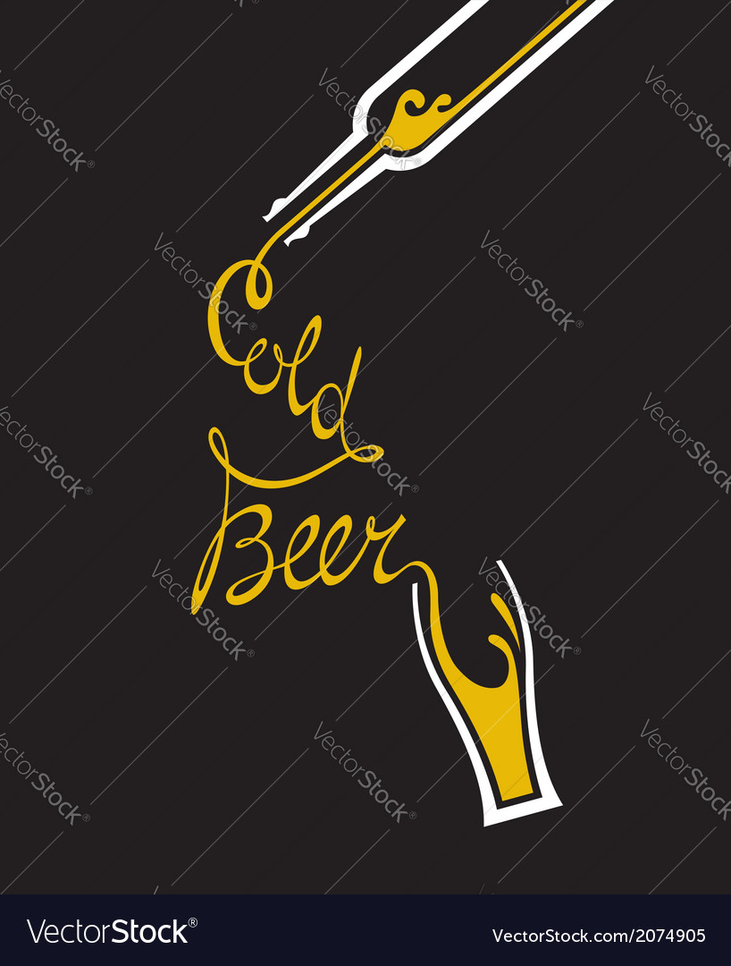 Beer glass and bottle vector   Price: 1 Credit (USD $1)