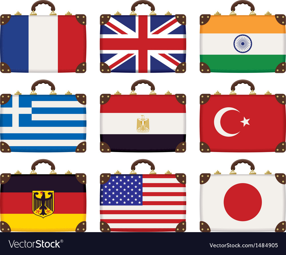 Flags bags vector | Price: 1 Credit (USD $1)