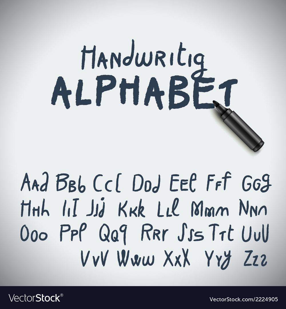 Hand drawing alphabet vector | Price: 1 Credit (USD $1)