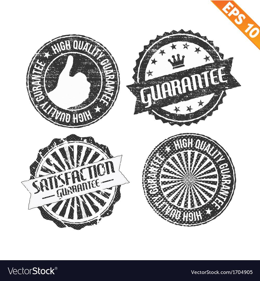 Label stitch sticker tag guarantee - - eps10 vector   Price: 1 Credit (USD $1)