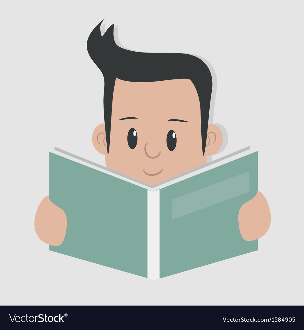 Reading - vector | Price: 1 Credit (USD $1)