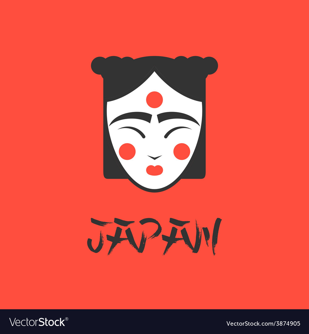 Stylized of a beautiful geisha vector | Price: 1 Credit (USD $1)